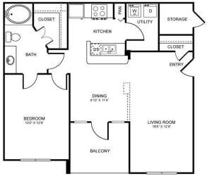 A5 Floor Plan at Stoneleigh on Spring Creek, Garland