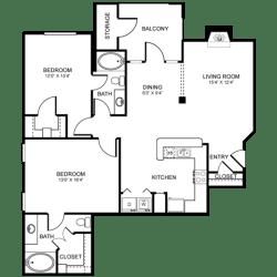 D6 Floor Plan at Stoneleigh on Spring Creek, Texas, 75044