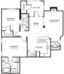 D6 Floor Plan at Stoneleigh on Spring Creek, Garland
