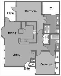 D3 R9 Floor Plan at Greenbriar Park, Texas