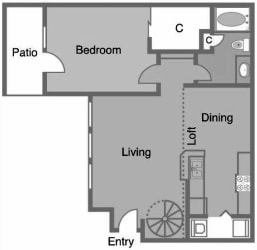 A4 Floor Plan at Greenbriar Park, Houston, TX