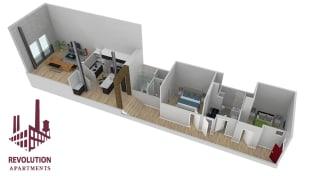 Revolution Mill Loft D floorplan
