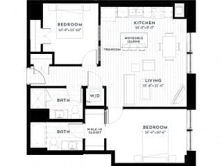 2A upgrade Floor plan at Custom House, Minnesota