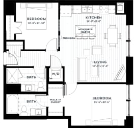 2A Floor plan at Custom House, St. Paul