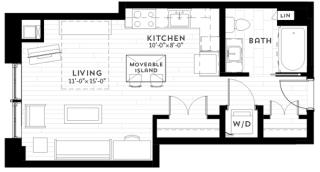 S2 Floor plan at Custom House, St. Paul, Minnesota