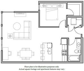 Floorplan at The Whittaker, Washington