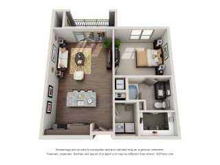 A2-1 Floor Plan at ALARA Uptown, Dallas