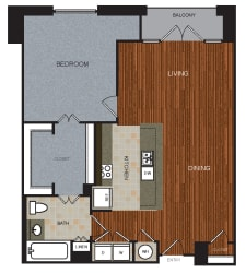 A7 Floor Plan at Berkshire Riverview, Texas