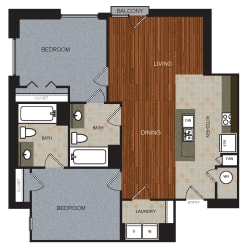 D6 Floor Plan at Berkshire Riverview, Austin, TX