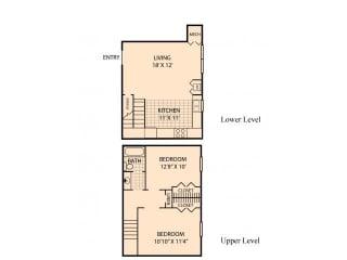Floor Plan 2x1 Townhouse