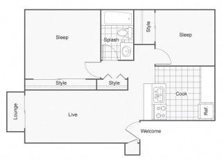 Constellation Apartments Dorado Floor Plan