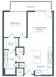 A6A Floor Plan at Highgate at the Mile, McLean