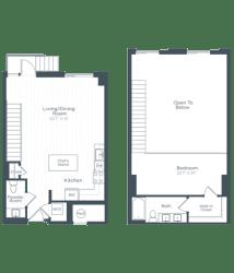 AL5 Floor Plan at Highgate at the Mile, McLean, 22102