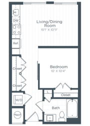 S2 Floor Plan at Highgate at the Mile, McLean, Virginia