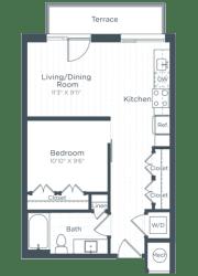S3 Floor Plan at Highgate at the Mile, McLean, Virginia