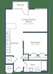 S7 Floor Plan at Highgate at the Mile, McLean, VA, 22102