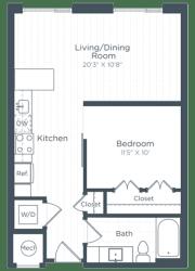 S7 Floor Plan at Highgate at the Mile, McLean, VA