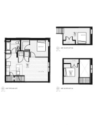 Franklin Lofts and Flats Floor Plan Diagram C2AB and C2AC