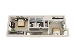 Floor Plan 2 Bed 2.5 Bath