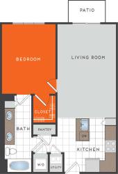 A2 Floor Plan at Berkshire Coral Gables, Florida