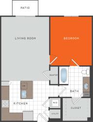 A6 Floor Plan at Berkshire Coral Gables, Miami, 33146