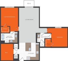 B9 Floor Plan at Berkshire Coral Gables, Florida