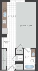 S1 Floor Plan at Berkshire Coral Gables, Florida