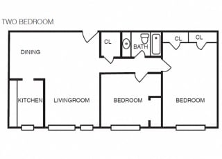 The Crestmont - B1 - 2 bedroom and 1 bath