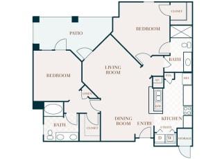 Delayne 2D floor plan B3