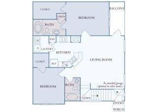 Carrington Place at Shoal Creek - B4 - 2 bedrooms 2 bathrooms - 2D