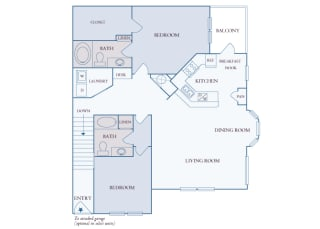 Carrington Place at Shoal Creek - B6 - 2 bedrooms 2 bathrooms - 2D