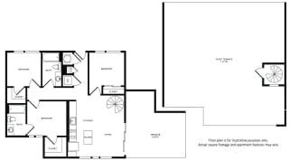 Floor Plan at Morningside Atlanta by Windsor, Atlanta,Georgia