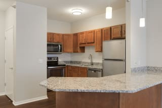 Kitchen with Ample Storage at Waterstone Place, Minnetonka, MN