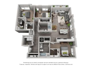 Floor Plan Residences at CityWay Apartments in Indianapolis