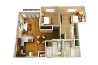 Floor Plan Two Bed Two Bath B