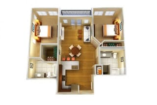 Floor Plan Two Bed Two Bath A
