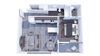 Range Apartments 1x1 C Floor Plan