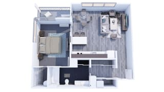 Range Apartments 1x1 F Floor Plan