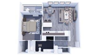 Range Apartments 1x1 G Floor Plan