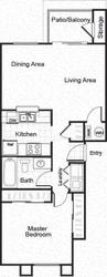 Sorelle black and white 2D floor plan image A1