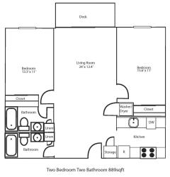Floor Plan Two Bedroom Large