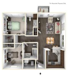 Dakota Flats 2x2 Floor Plan