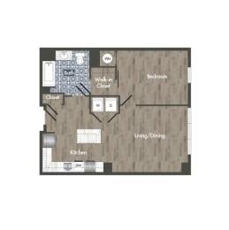 A13H Floor Plan at Park Kennedy, Washington, DC, 20003