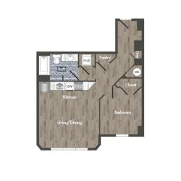 A15A Floor Plan at Park Kennedy, Washington