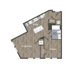 A17A Floor Plan at Park Kennedy, Washington