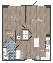 A22A Floor Plan at Park Kennedy, Washington