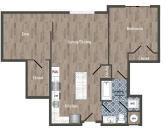 A29D Floor Plan at Park Kennedy, Washington, 20003