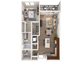 A2A 1Bed_1.5Bath at Avenue Grand, Maryland