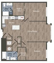 B10B  Floor Plan at Park Kennedy, Washington, 20003