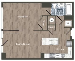 A6A Floor Plan at Park Kennedy, Washington